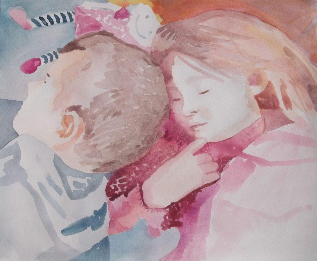 Kids Sleeping by Jane Cornwell