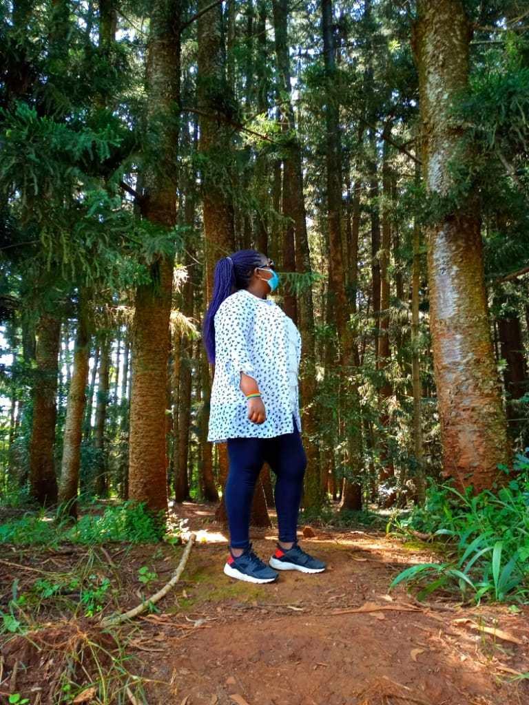 Myself at Karura Forest in Nairobi, Kenya