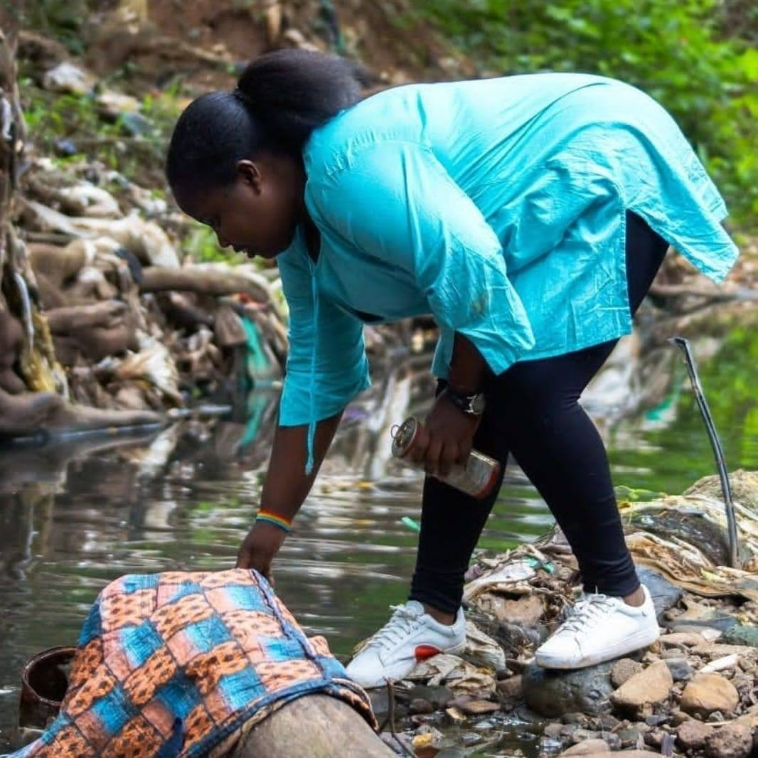 Checie Winnie at the Nairobi Arboretum Cleanup