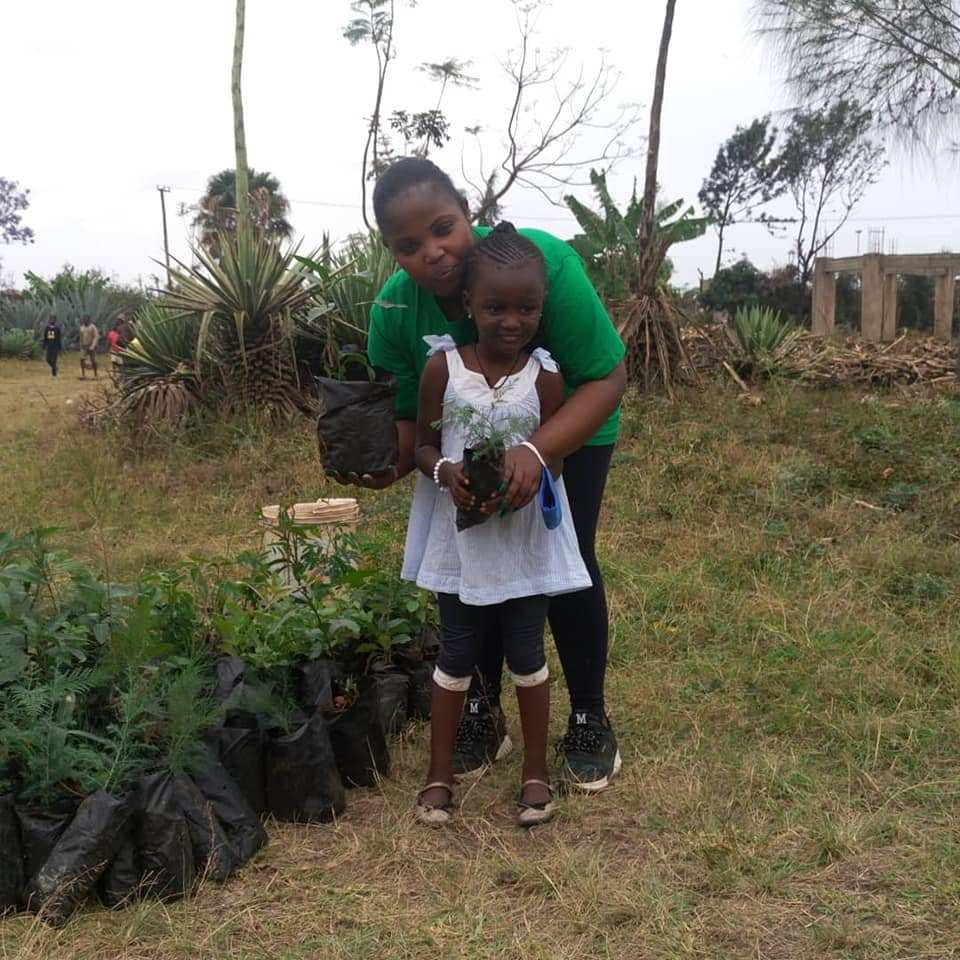 Planting trees on my birthday in 2020