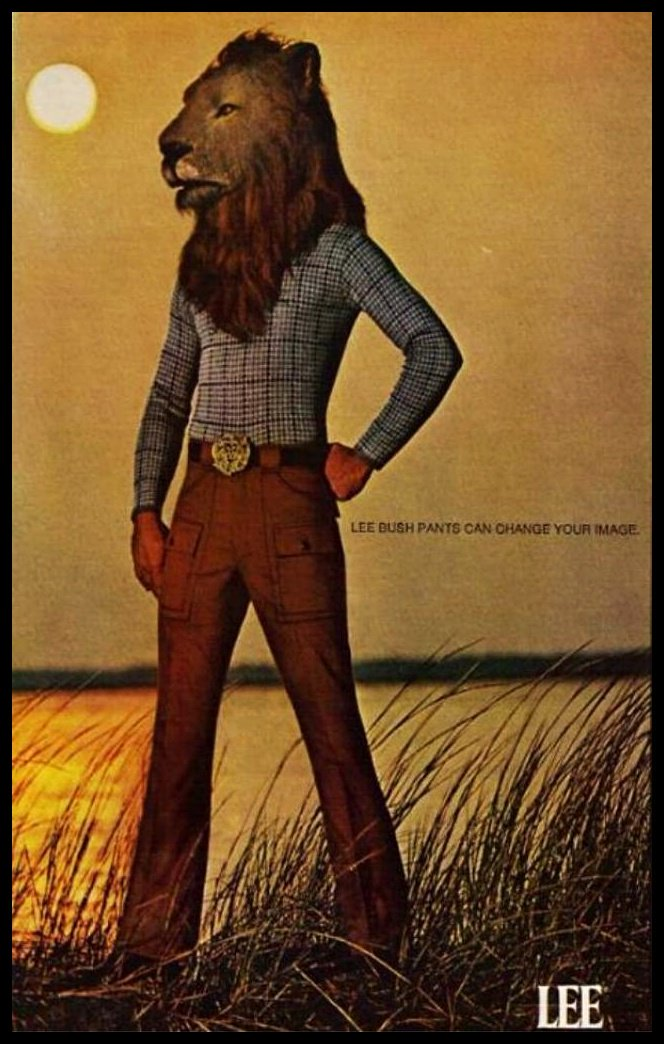 Exotic Ads of the Past: Lee's Tight Jeaned Alpha Males of the 70's Urban Jungle