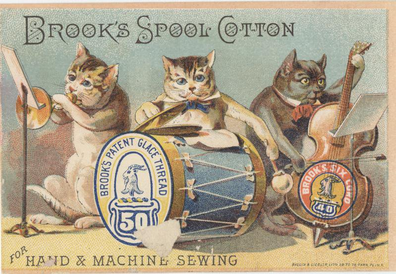 Exotic Ads of the Past: Brooks Cotton Spool