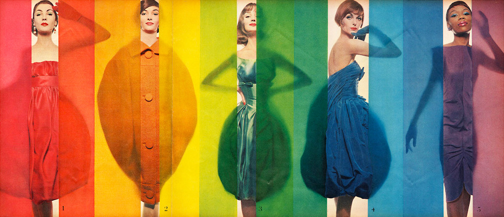 A kaleidoscope of 50's haute couture