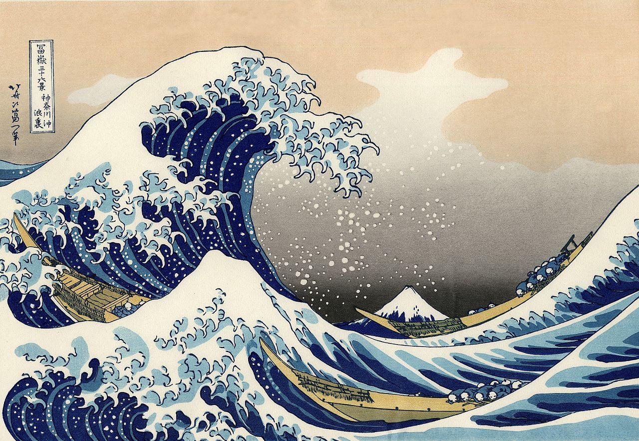 The great wave off Kanagawa, beautifully animated