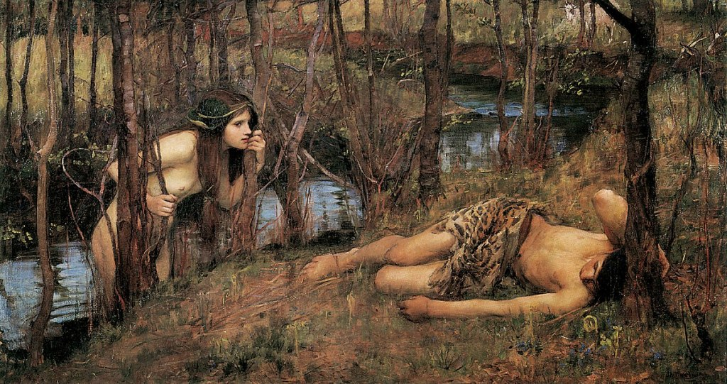 :A Naiad or Hylas with a Nymph by John William Waterhouse (1893)
