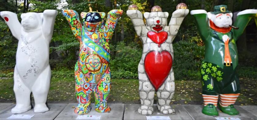 Japan, Italy, Israel and Ireland Buddy Bears