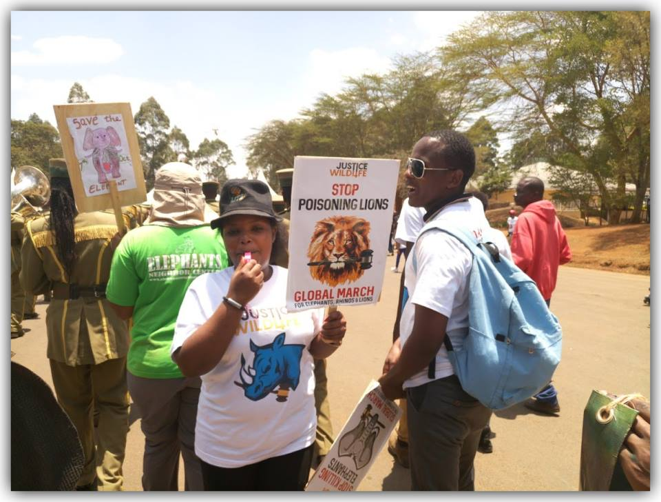 A Peaceful demonstration for wildlife conservation