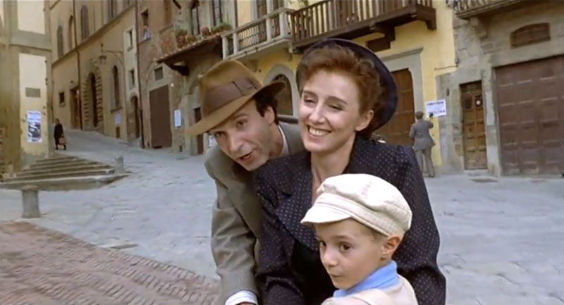 One of my heros roberto-benigni in a still from the film 'Life is Beautiful'