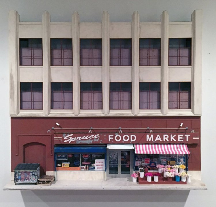 Drew Leshko's dollhouse replicas of vanishing Philadelphia streets