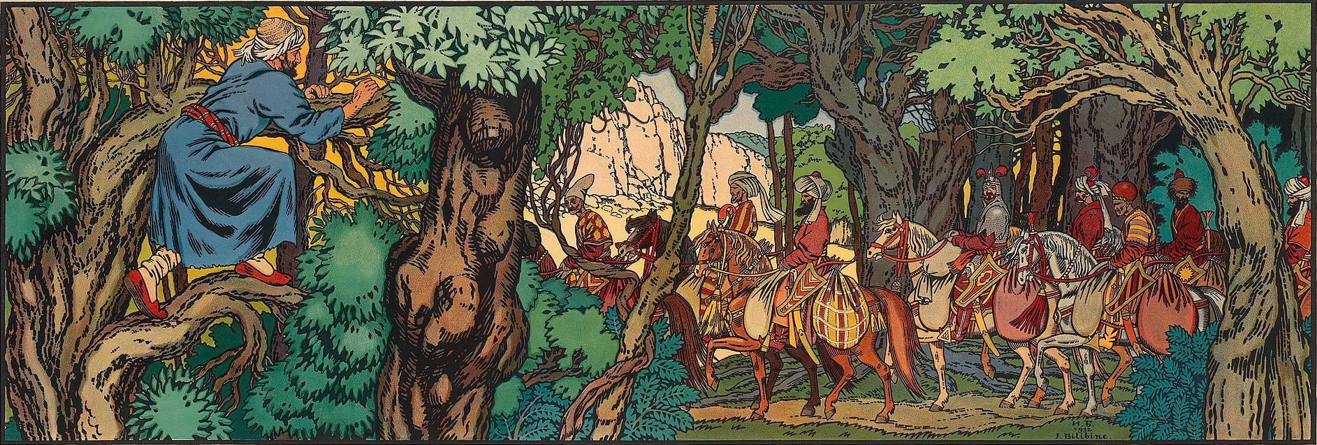 The Hunt by Ivan Bilibin