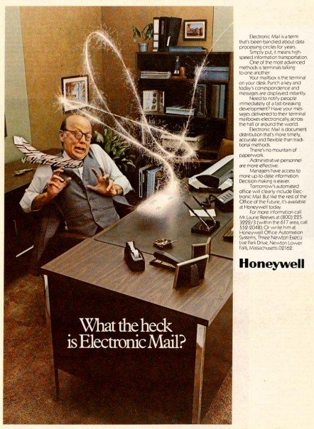 What The Heck is Electronic Mail? Asks Ad From 1977