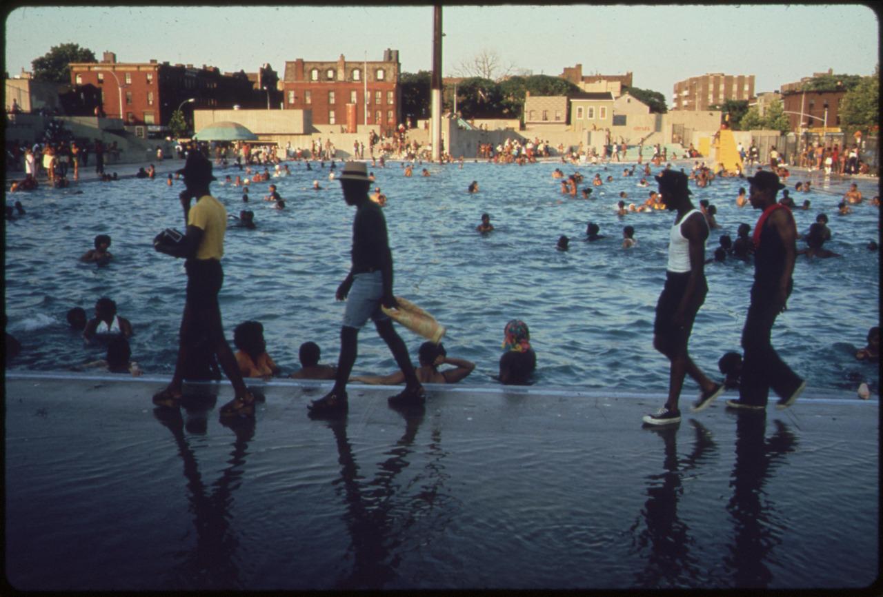 Every Picture Tells A Story: Kosciusko Public Swimming Pool, Brooklyn 1974.