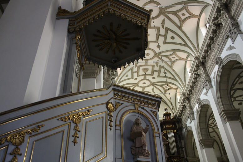 Another cathedral ceiling, this time in Wroclaw. Copyright Content Catnip 2016 https://wp.me/p41CQf-IE8