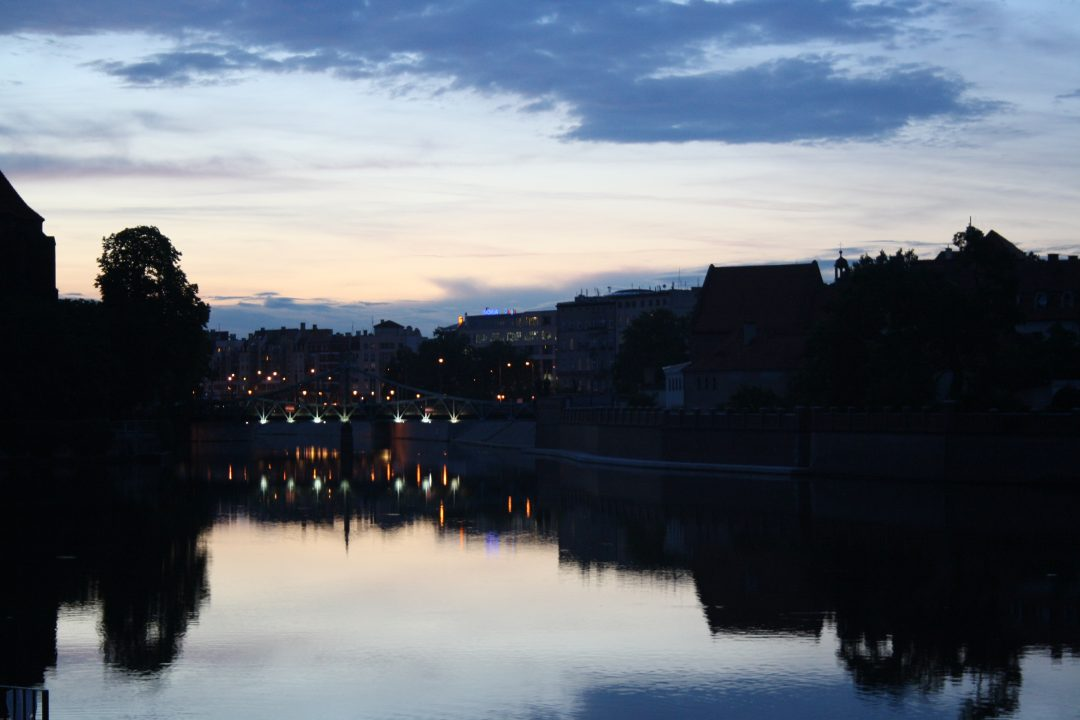 Cycling adventures at dusk in Wrocław Copyright Content Catnip 2016