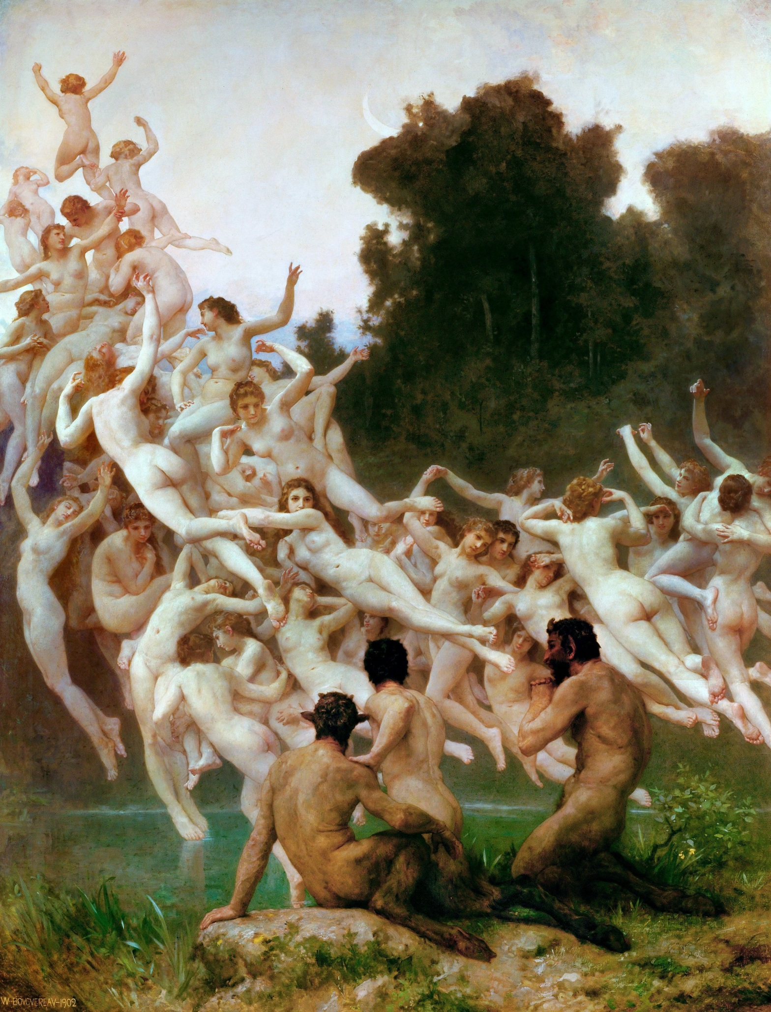 Les Oréades (1902) by William-Adolphe Bouguereau, in Musée d'Orsay