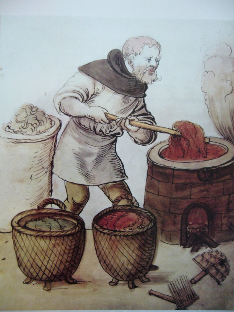 Dyeing garments in the Middle Ages with tiny maggots Polish cochineals (Porphyrophora polonica