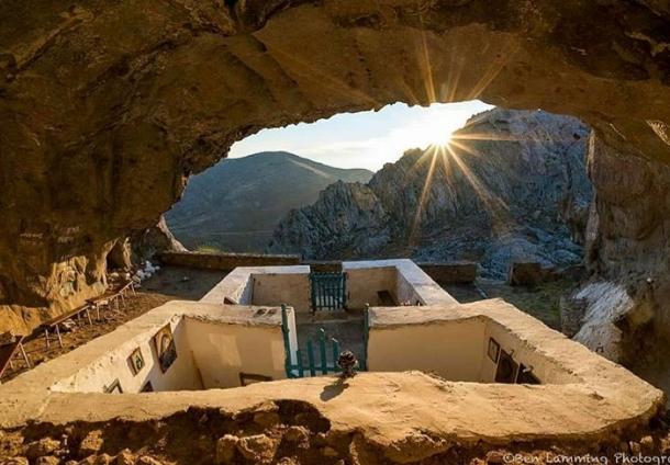 The Chapel of Panagia Kakaviotissa on Lemnos Island, Greece