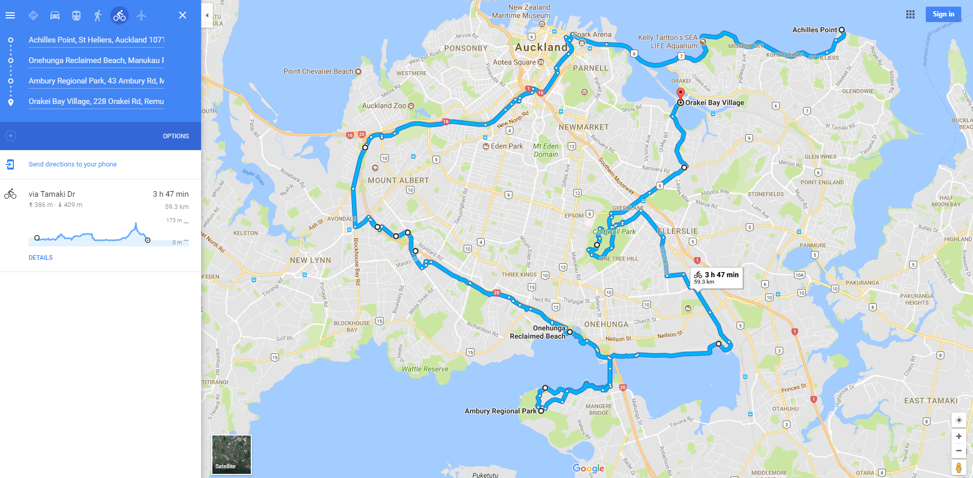 Great Cycling Routes of Auckland: Part 3 North Western Cycleway, Onehunga Foreshore, Cornwall Park, St Heliers Loop