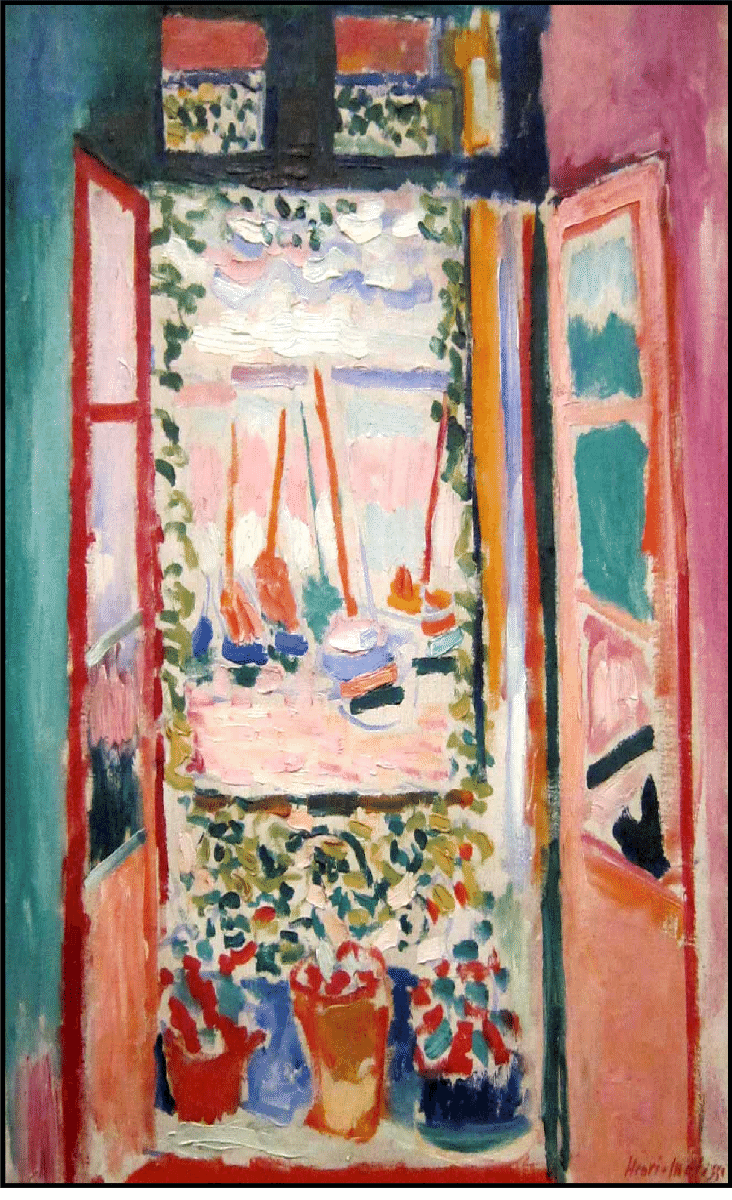 The Window by Henri Matisse (1869 –1954) Even with the risk of over familiarity, his work still radiates joy.