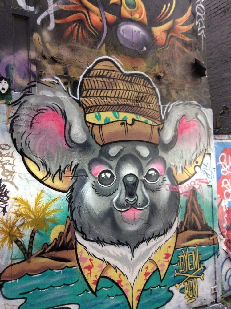 Melbourne's vibrant laneway graffiti