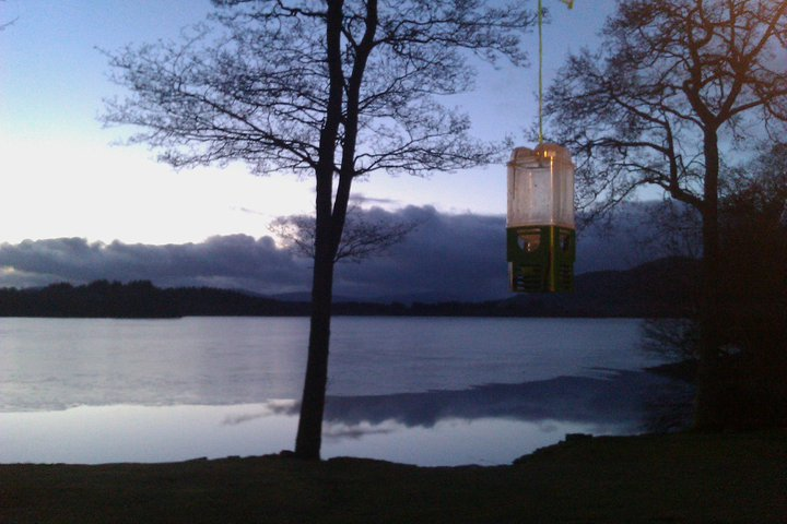 Every Picture Tells a Story: Lake Menteith in the fading light of a winters night