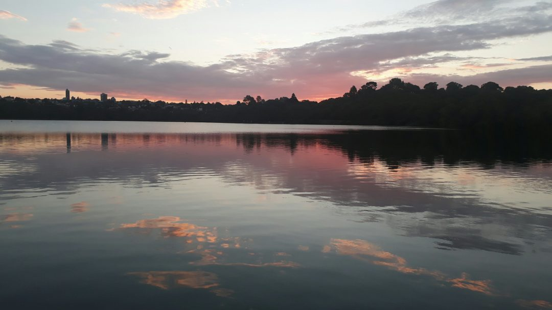 Every Picture Tells A Story: Sunset over Orakei