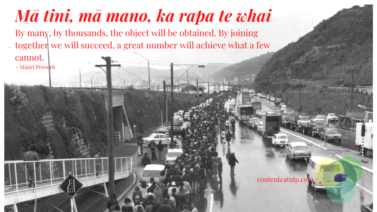 Mā tini, mā mano, ka rapa te whai - By many, by thousands, the object will be obtained. By joining together we will succeed, a great number will achieve what a few cannot. ~ Māori Proverb #TeWikioteReoMāori #MāoriLanguageWeek #MahuruMaori