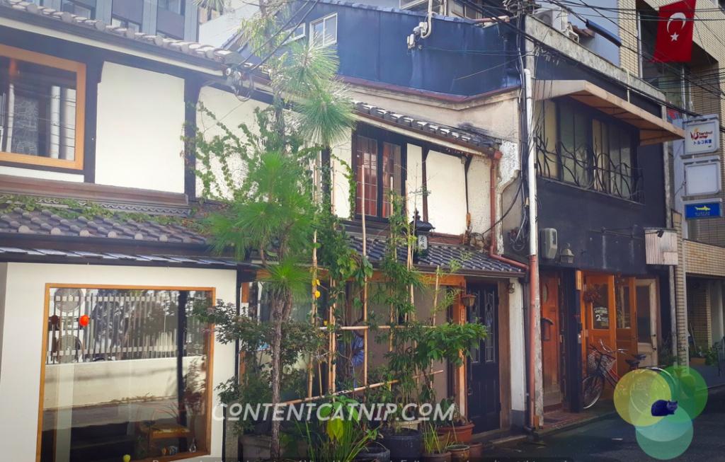 A fancy restaurant in the backstreets of Kyoto Copyright © Content Catnip 2018 www.contentcatnip.com