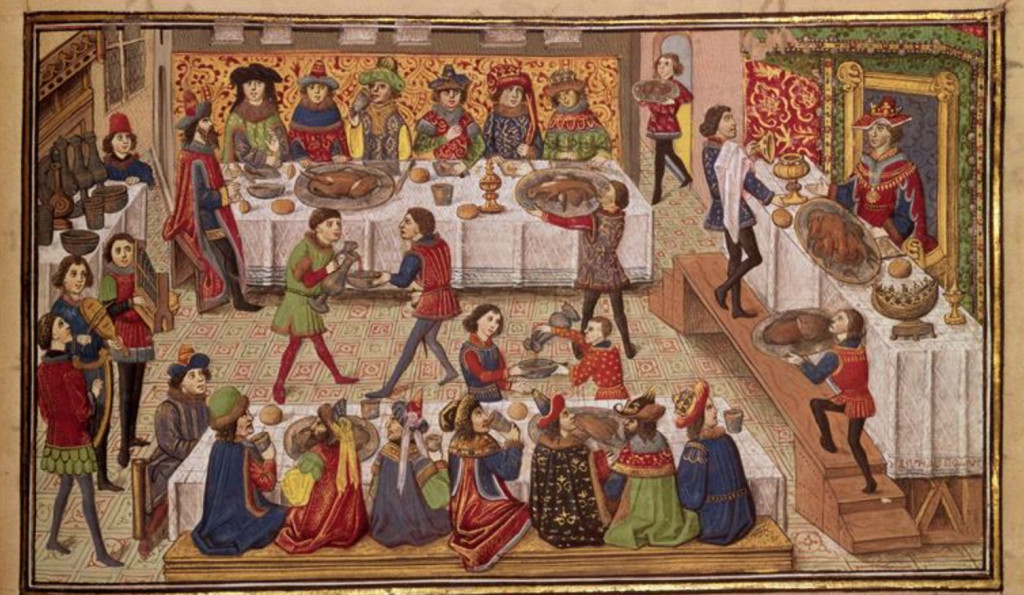 Omnia tempus habent: a delightful medieval rhyming calendar | December ~ And at Christemasse I drinke red wine