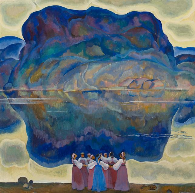 Peasant Women Dancing by a Lake by Akseli Gallen Kallela