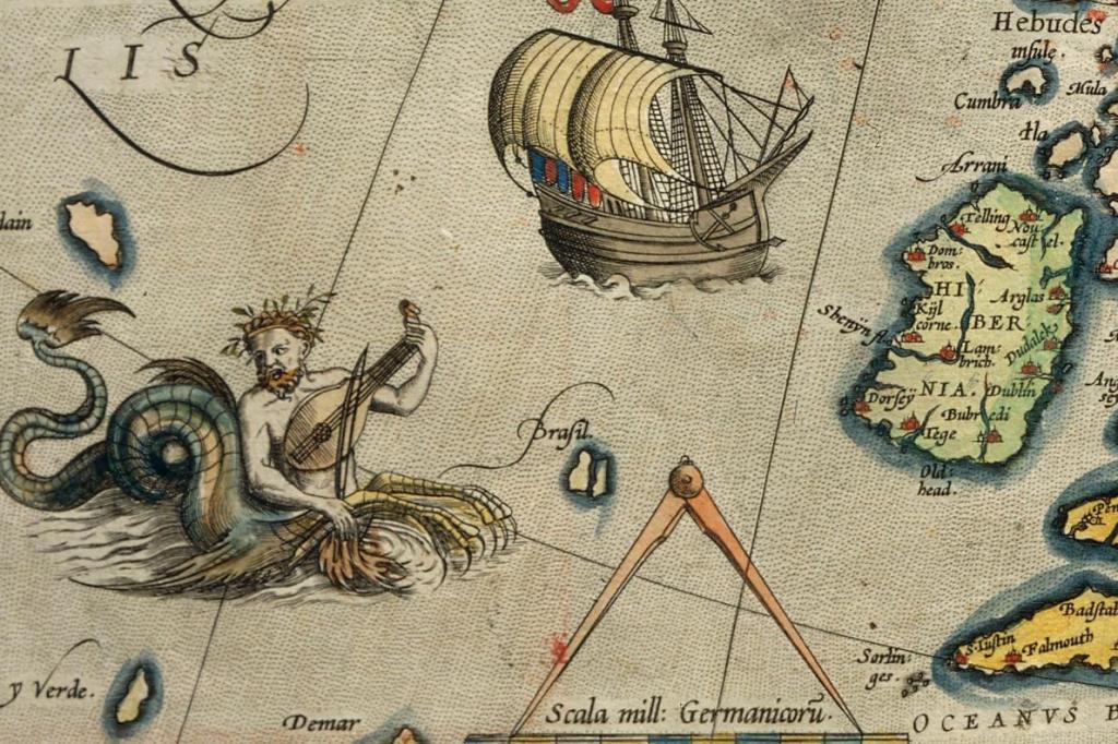 Hy-Brasil in Petrus Plancius's 'Orbis Terrarum Typus de Integro Multis in Locis Emendatus' (Amsterdam, 1594)