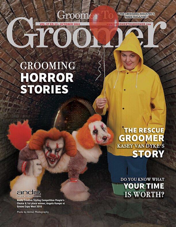 Dog groomer creepy - scary clown edition