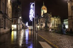 Luminous Edinburgh during Christmas time lit the way for work-weary me
