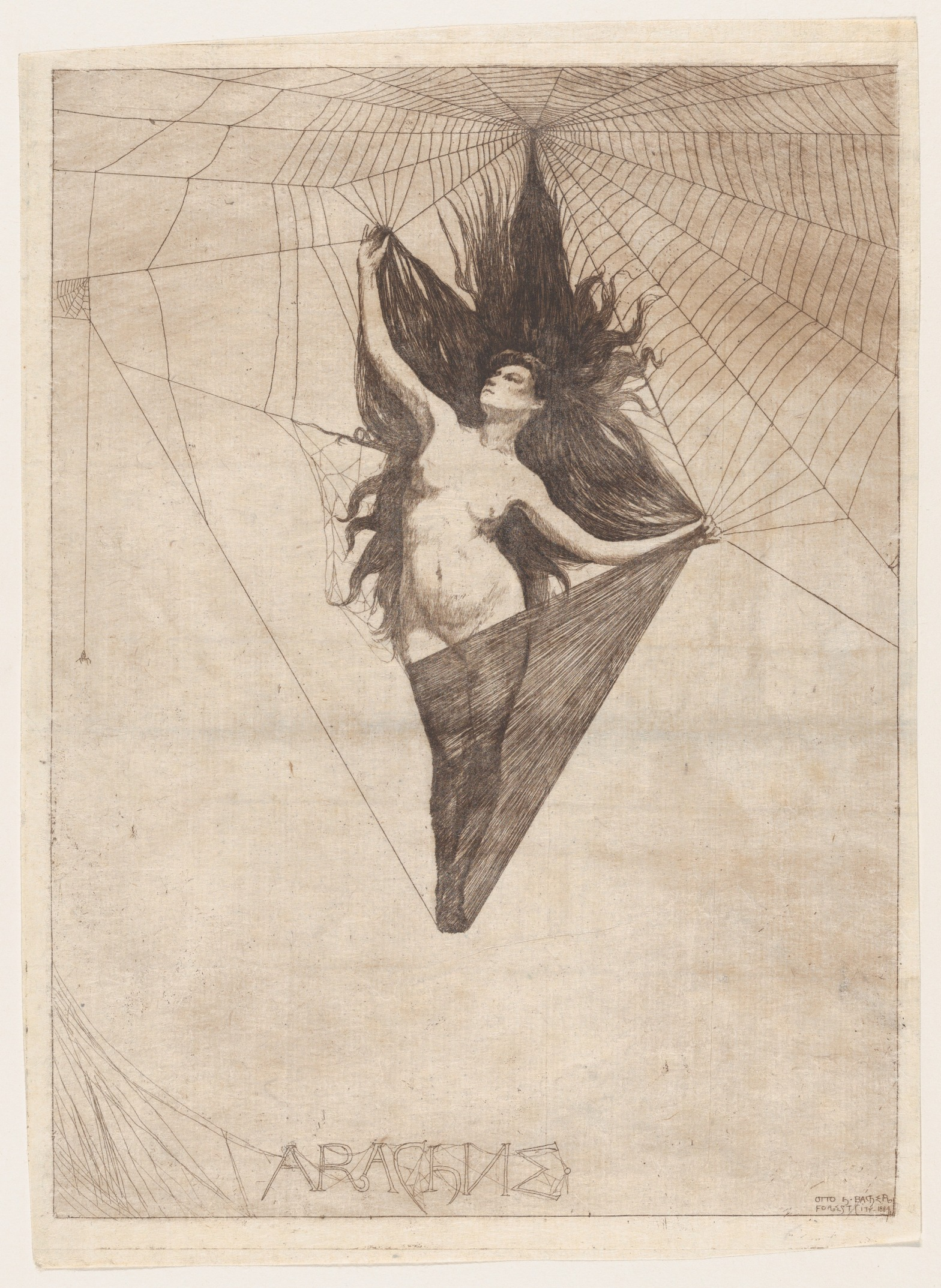 Arachne (1884) by Otto Henry Bacher. Source: Met Museum