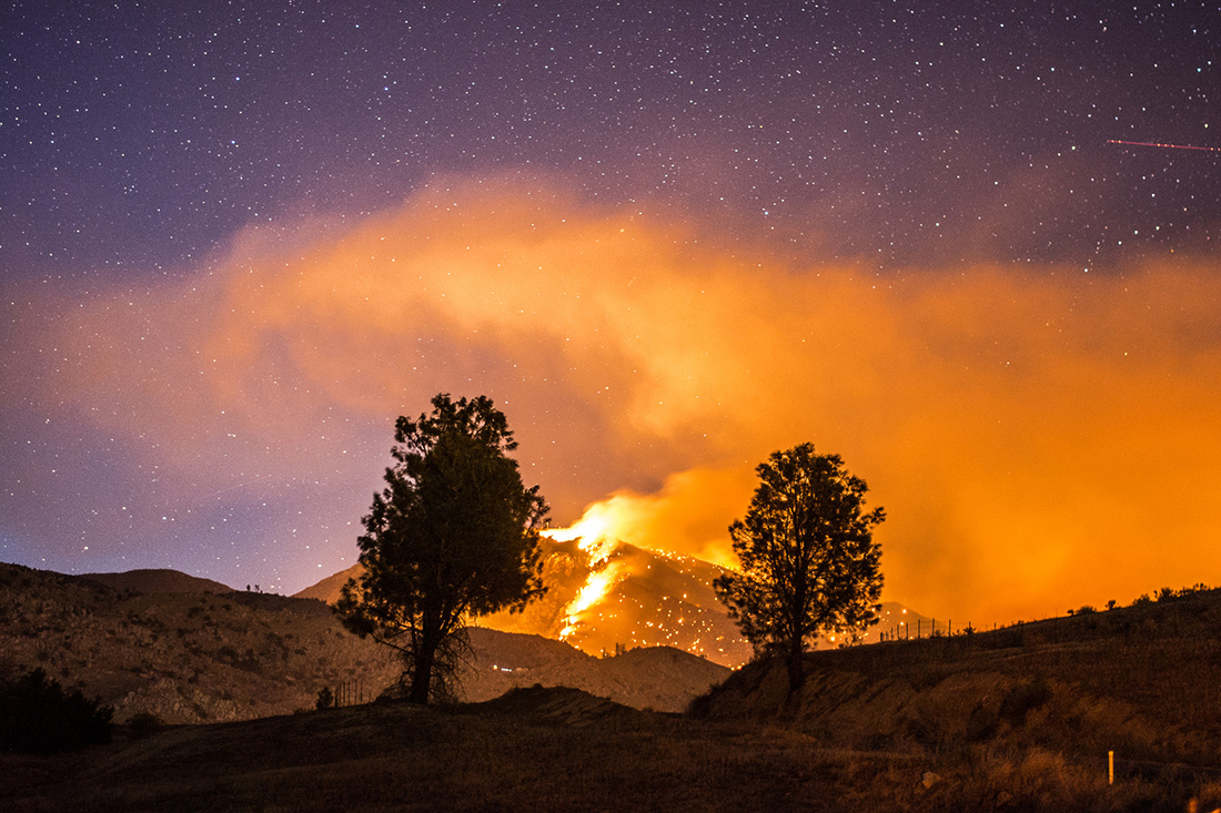 Chasing fire and embers across the Californian badlands