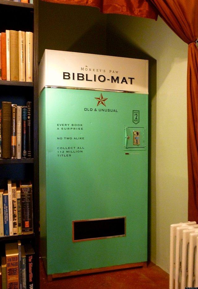 The odd and wonderful bibliomat book vending machine