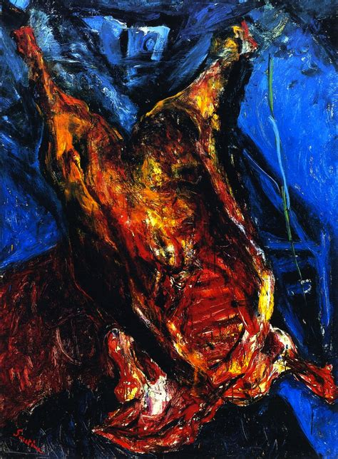 Carcass of Beef by Chaim Soutine (1893 –1943) is one of my favorites, I have yet to see images online of his work which do them justice, expressionistic like Van Gough but he was his own man. A treasured memory for me was getting to go to his grave in Paris and leaving my brush on it.