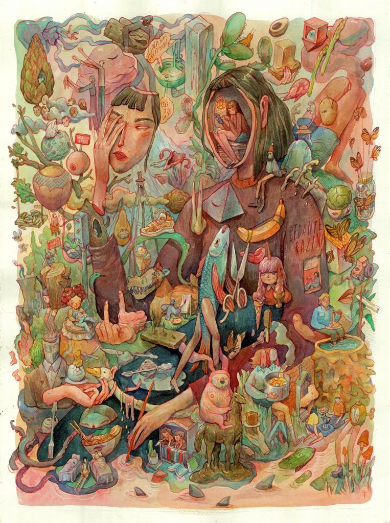 Amazingly intricate surreal art about lockdown by Marija Tiurina