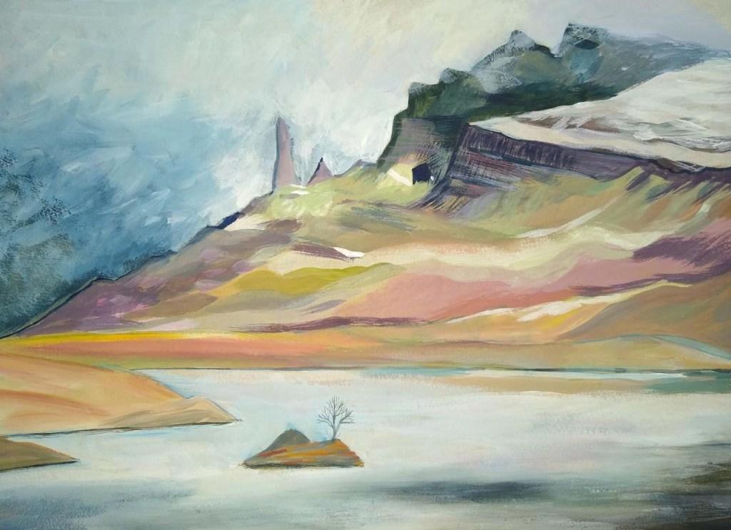 Rock formation on Skye by Jane Cornwell
