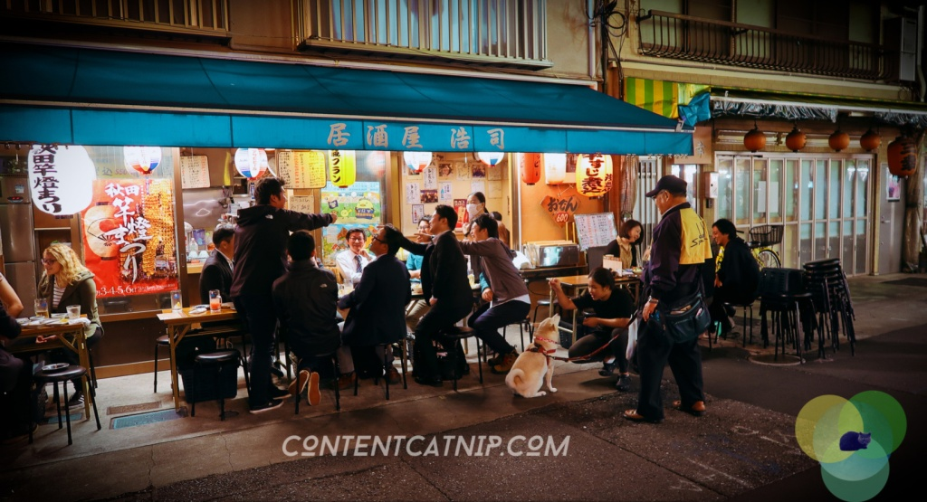 Kanpai in Asakusa, Tokyo Japan Copyright © Content Catnip 2018 www.contentcatnip.co