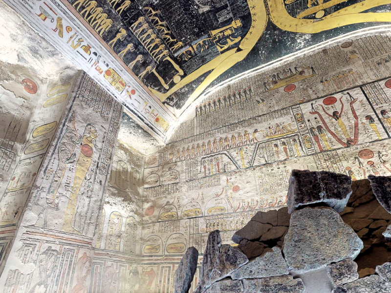Explore the tomb of Ramesses VI in the The Valley of Kings, Egypt