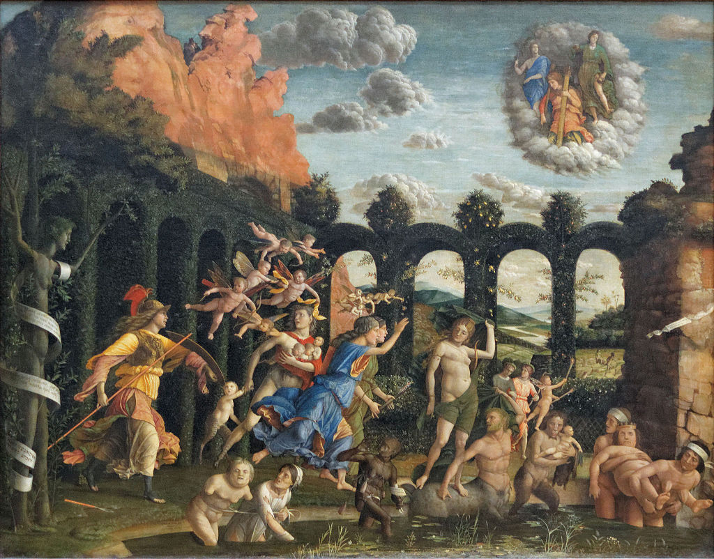 Athena Expelling the Vices from the Garden of Virtue 1502 by Andrea Mantegna