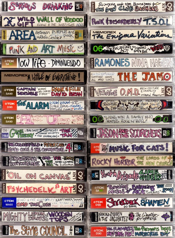 Adorning Cassettes - What's The Modern-Day Equivalent?