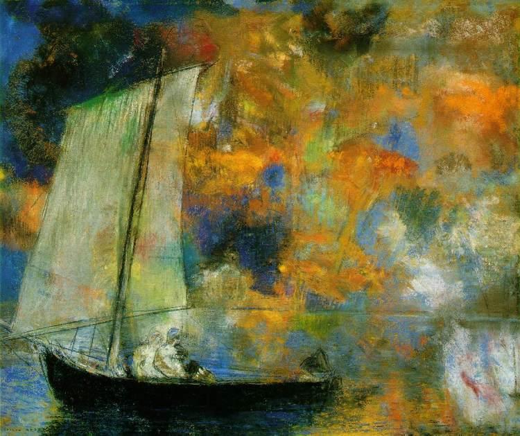 Flower Clouds by Odilon Redon