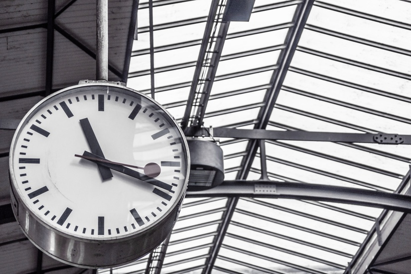 Clock at a station