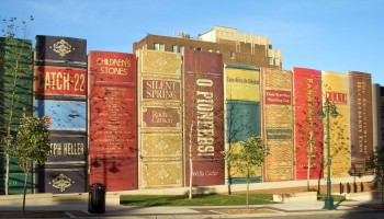 Every picture tells a story: The library made of gigantic books