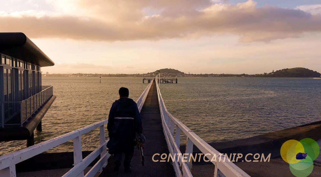 Fisherman at dusk, Auckland © Content Catnip 2018 www.contentcatnip.com