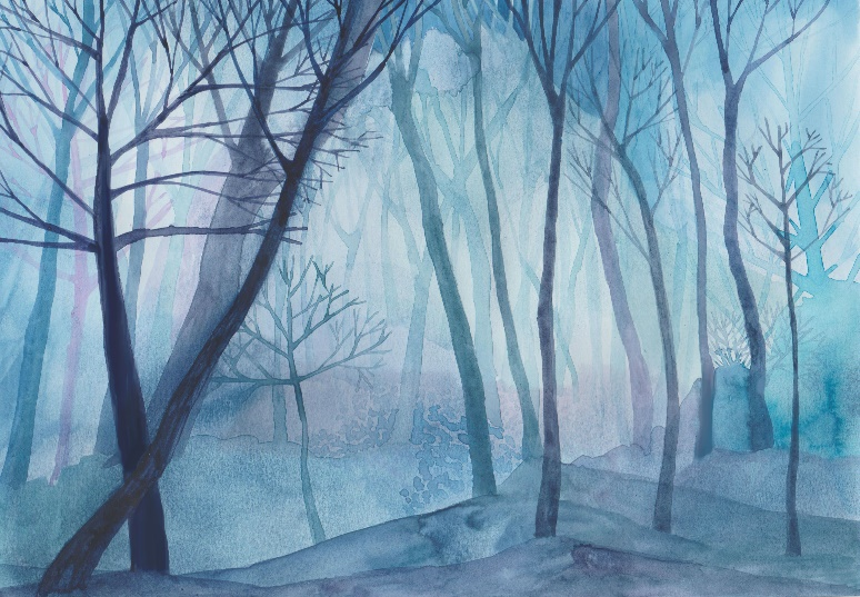Moonlight trees (Lost in the forest) by Jane Cornwell available on ETSY