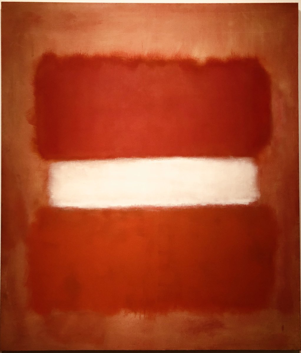 "No. 8 White Stripe by Mark Rothko (1903 –1970) is another favorite, he has a work ""White Center"" that is at LACMA, knocks me out every time, although there is no bad Rothko's."