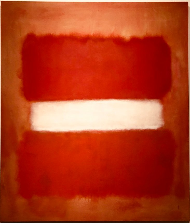 """No. 8 White Stripe by Mark Rothko (1903 –1970) is another favorite, he has a work """"White Center"""" that is at LACMA, knocks me out every time, although there is no bad Rothko's."""